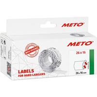 METO Prijslabels 9506167 Permanent Breedte etiket: 26 mm Hoogte etiket: 16 mm Wit 1 stuk(s)