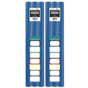 Benza Kaftpapier Schoolboeken - Donkerblauw - 200 X 70 Cm - 6 Rollen