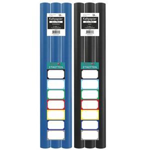 Benza Kaftpapier Voor Schoolboeken - Donkerblauw En Zwart - 200 X 70 Cm - 6 Rollen