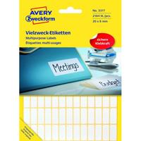 Avery Etiket Zweckform 20X8Mm Wit Pakje A 2184 Etiketjes