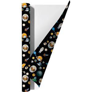 Benza Emoji Space Kaftpapier Voor Schoolboeken - 200 X 70 Cm - 3 Rollen