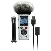 Olympus LS-P1 4GB Hi Res Audio Recorder Podcaster Kit inc mini Tripod, Windscreen and USB Cable