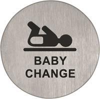 Pictogram rvs zelfkl. 75mm babykamer