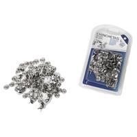 Gerim Set van 200x stuks zilveren punaises -