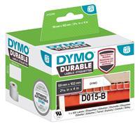 DYMO Rol met etiketten 190 x 59 mm Polypropileen folie Wit 170 stuk(s) Permanent 2112288 Universele etiketten, Adresetiketten