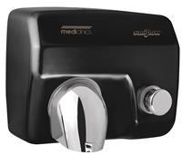 Mediclinics handendroger zwart drukknop Saniflow E05