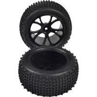 Reely 1:10 Buggy Complete wielen Stollen 5-dubbelspaaks Zwart 1 paar