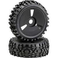 Absima Dirt banden op disc velgen voor 1/8 buggy - Zwart