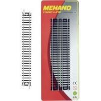 Mehano F223 H0 set van 4 rechte rails