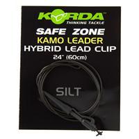 Korda Camo Leaders + Hybrid Leadclip - Silt Brown - 40lb
