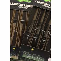 Korda Leadcore Leaders Hybrid Lead Clip Gravel Brown 3 stuks