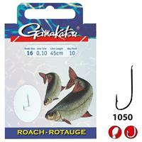 Gamakatsu 1050N Roach - Onderlijn - 70cm - Haakmaat 18 - 10 stuks