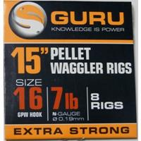 Guru B.Band Pellet Waggler Ready Rig - 38cm - 0.19mm - Maat 16
