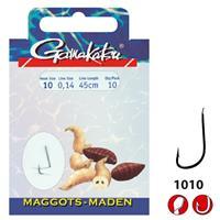 Gamakatsu 1010B Maggot - Onderlijn - 60cm - Haakmaat 18 - 10 stuks