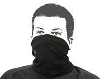 Buff hoofddoek zwart - Universele maat