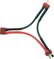 Accu Adapterkabel [1x T-bus - 2x T-stekker] 700 mm 2.50 mm² Modelcraft