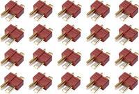 Reely Accupack stekker T-stekkersysteem Verguld 20 stuks