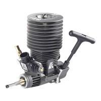 Forceengine Force Engine nitromotor 21 Black Series vermogen 1.9 pk / 1.4 kW cilinderinhoud uitlaatpoort Achterkant