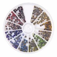 Gekleurde ronde strass steentjes 360 stuks