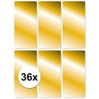 36x Gouden etiketten