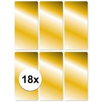 18x Schoolboek etiketten goud Goudkleurig