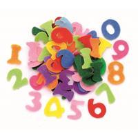 Hobby vilt 150 gekleurde vilten cijfers 2,5 cm Multi