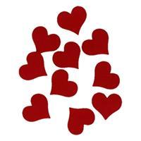 Hobby vilt 10 rode vilten harten 4cm Rood