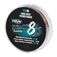 Rive Power Sinking Feeder Braid - Bruin - 8x 0.20mm - 150m