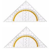 2x Geo driehoek 14 cm Transparant