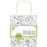 3x Knutsel papieren tassen/tasjes om in te kleuren voor kinderen Wit