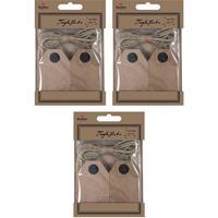 60x Cadeau tags/labels kraftpapier/karton aan jute touw 7 cm Bruin