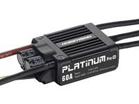 hobbywing Brushless snelheidsregelaar voor RC vliegtuig  Platinum Pro 60A V4 Belastbaarheid (max.): 80 A