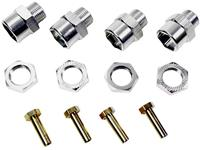 Absima Aluminium Velgmeenemer 12 mm op 17 mm + 15 mm verbreding 12 mm 6-kant  Zilver 1 stuk(s)