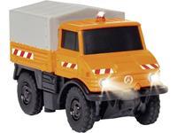 Carson Modellsport 504125 MB Unimog U400 Kommunal 1:87 RC auto Elektro Hulpdienstvoertuig Incl. accu, oplader en batterijen voor de zender
