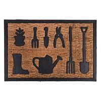 esschertdesign Esschert Design rubber/kokos gieter deurmat