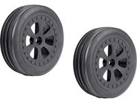 Reely 1:10 Buggy Complete wielen Groef banden 6-spaaks Zwart 1 paar