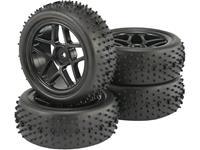 Reely 1:10 Buggy Complete wielen Spike 5-dubbelspaaks Zwart 2 stuk(s)