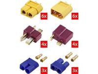 Reely RE-6699867 Accupack stekker XT60, T-stekkers, EC3 Verguld 1 stuk(s)