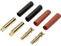 Reely RE-6534192 Accupack stekker 4 mm Verguld 40 paar