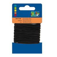 1x Zwart hobby elastiek van 0,8 mm x 5 meter - Knutselartikelen