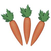Rayher hobby materialen 12x stuks decoratie wortelen 6 cm - Decoratief object