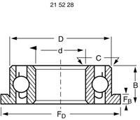 reely Groefkogellager, radiaal Chroomstaal Binnendiameter: 5 mm Buitendiameter: 10 mm Toerental (max.): 50000 omw/min