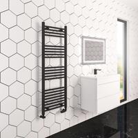 eastbrook Wingrave verticale verwarming 80x50cm mat zwart 445 watt