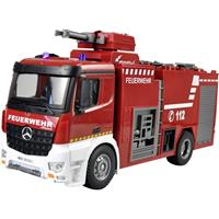 amewi 22503 Mercedes Benz Feuerwehr-Löschfahrzeug - Lizenzfahrzeug 1:18 RC truck 100% RTR Incl. accu en laadkabel