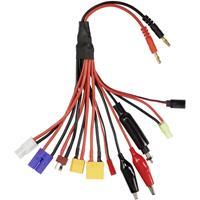 VOLTCRAFT Laadkabel [1x EC5-stekker, Tamiya-stekker, XT90-stekker, XT60-stekker, Mini Tamiya-stekker, T-stekker, Krokodilklem, JR-stekker, JST-stekker,