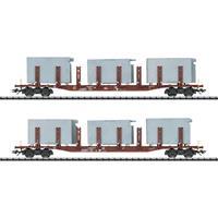 TRIX H0 24141 H0 2-delige set rongenwagen Badsysteme van de DB AG