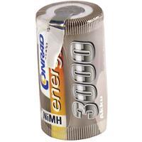 Conrad energy Accucel NiMH Sub-C 1.2 V 3000 mAh  Met soldeerlip