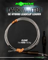 Korda Dark Matter Leader QC Hybrid Clip - Clear - 40lb - 1.00m