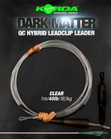 Korda Dark Matter Leader QC Hybrid Clip - Clear - 40lb - 50cm