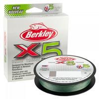 Berkley X5 Braid Low-Vis - Green - 0.17mm - 9.1kg - 300m - Gevlochten Lijn